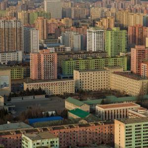Resebilder från Pyongyang tryckta på glas - av Felix Oppenheim